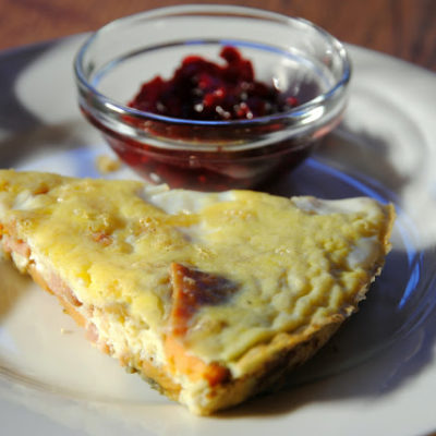 Sweet Potato Frittata with Cranberry Salsa